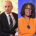 Matt Lauer and Gayle King