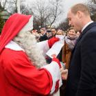 Prince William and Santa in Finland