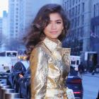 Zendaya in gold dress