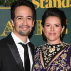 Lin-Manuel Miranda and Wife Vanessa Nadal at the 2017 London Evening Standard Theatre Awards at the Theatre Ro