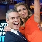 Andy Cohen and Brandi Glanville on the set of 'Watch What Happens Live.'