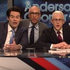 Bill Hader, Fred Armisen, Alex Moffat and John Goodman on 'Saturday Night Live'