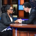 Oprah Winfrey sits down with Stephen Colbert on 'The Late Show' on Mar. 6