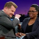James Corden and Oprah Winfrey