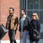 Justin Theroux walks with Paul Rudd and his wife in NYC on Easter Sunday.