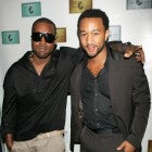 Kanye West and John Legend attend a Kanye West concert held exclusively for American Express card members at the Nokia Theatre August 29, 2006 in New York City.
