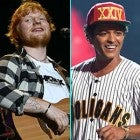 Ed Sheeran, Taylor Swift and Bruno Mars