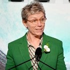 Frances McDormand green pantsuit Crystal and Lucy Awards