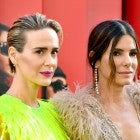 Sarah Paulson and Sandra Bullock at ocean's 8 world premiere
