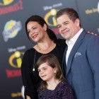Patton Oswalt with wife and daughter at Incredibles 2 premiere