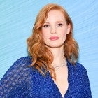 Jessica Chastain Piaget party blue dress