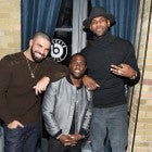 Drake, Kevin Hart and LeBron James attend the Beats In The Six And Drake Welcome Dinner at Fring's on February 11, 2016 in Toronto, Canada.