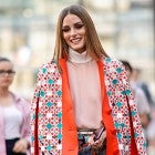 Olivia Palermo street style orange coat