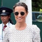 Pippa Middleton printed voluminous sleeved dress