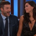Becca Kufrin and her new fiancé, Garrett Yrigoyen on Jimmy Kimmel Live on Aug. 6