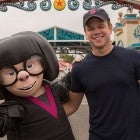 Matt Damon at Pixar Pier