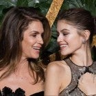 Cindy Crawford and Kaia Gerber at the 2018 Fashion Awards in London on Dec. 10