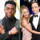 Chadwick Boseman and Kaley Cuoco with Jim Parsons