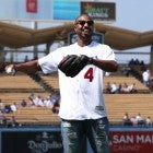 Michael B Jordan at dodgers game