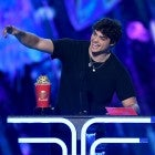 Noah Centineo accepts the Best Breakthrough Performance award for 'To All the Boys I've Loved Before' onstage during the 2019 MTV Movie and TV Awards.
