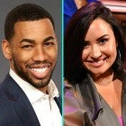 Mike Johnson and Demi Lovato (inset)