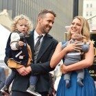 ryan reynolds and blake lively with daughters at walk of fame