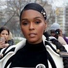 Janelle Monae at the Balmain show as part of the Paris Fashion Week