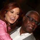 Debra Messing and Andre Braugher pose for a selfie