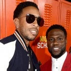 "Ludacris (L) and Kevin Hart arrive at the premiere of Universal Pictures' ""Night School"" at the Regal Cinemas L.A. LIVE Stadium 14 on September 24, 2018"