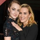 Saoirse Ronan and Kate Winslet at the Moet British Independent Film Awards 2015