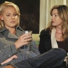 Katherine Heigl and Ellen Pompeo on 'Grey's Anatomy'