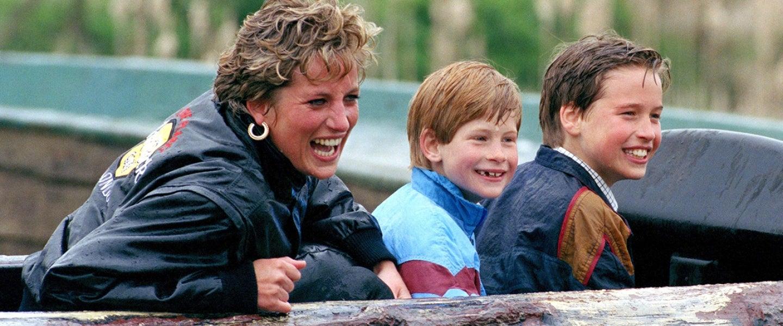 Diana Princess Of Wales, Prince William & Prince Harry Visit The 'Thorpe Park' Amusement Park