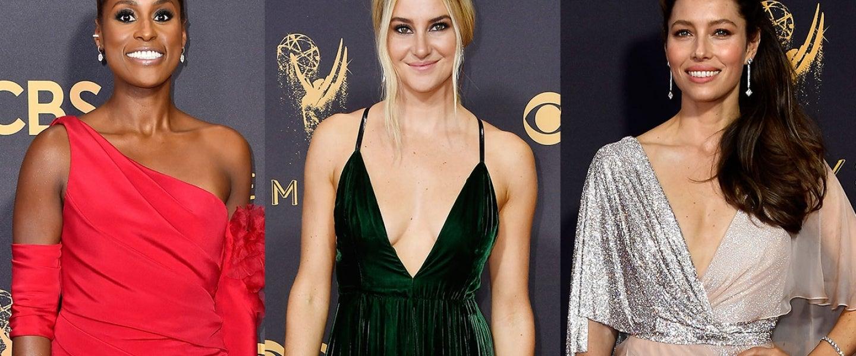 Issa Rae, Shailene Woodley and Jessica Biel at 2017 Emmys