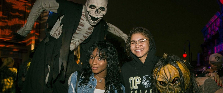 Normani Kordei and Zendaya at Halloween Horror Nights