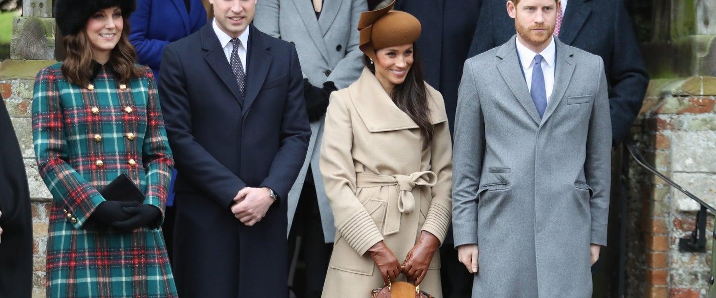 Princess Beatrice, Princess Eugenie, Princess Anne, Princess Royal, Prince Andrew, Duke of York, Prince William, Duke of Cambridge, Catherine, Duchess of Cambridge, Meghan Markle and Prince Harry attend Christmas Day Church service