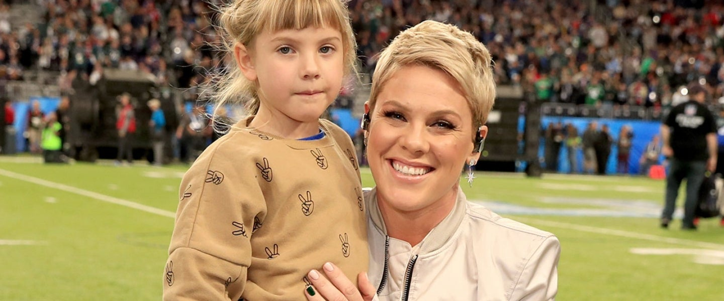 Willow and Pink at the Super Bowl