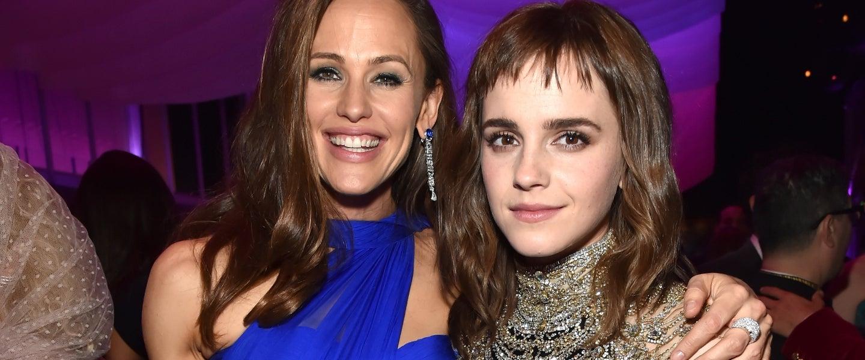 Jennifer Garner and Emma Watson at Vanity Fair party