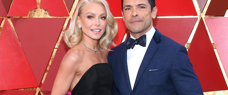 Kelly Ripa and Mark Consuelos at 2018 Oscars