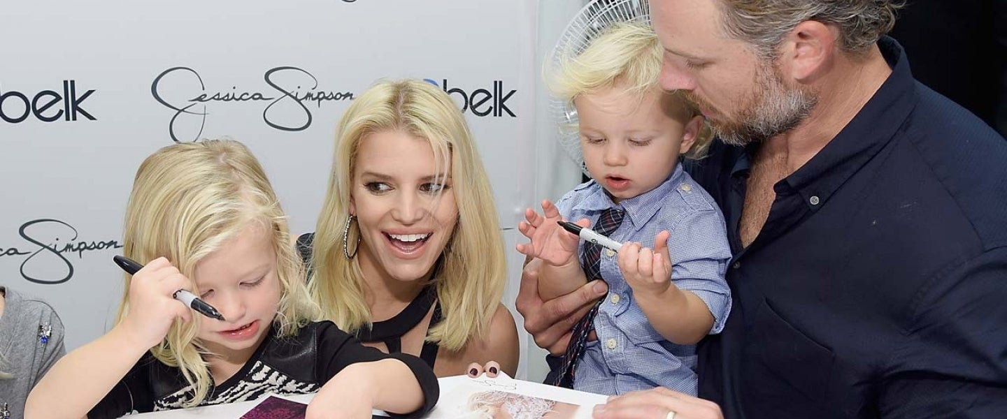 Jessica Simpson and Husband Eric Johnson with kids Ace and Maxwell