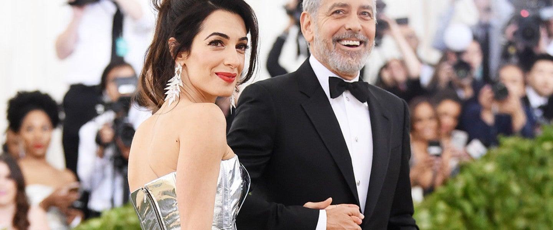 Amal Clooney and George Clooney at 2018 Met Gala