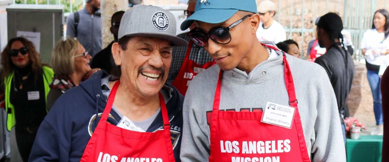 Danny Trejo and Pharrell Williams