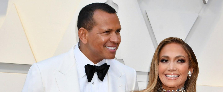 Jennifer Lopez and Alex Rodriguez at 2019 oscars