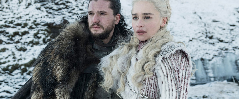 Kit Harington and Emilia Clark in season 8 of Game of Thrones