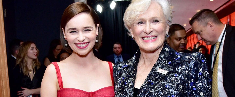 Emilia Clarke and Glenn Close at time 100 gala