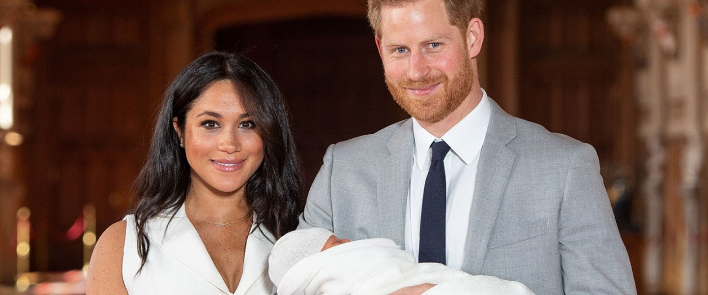 Meghan Markle, Archie and Prince Harry on may 8