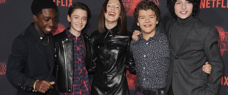 Stranger Things cast s2 premiere