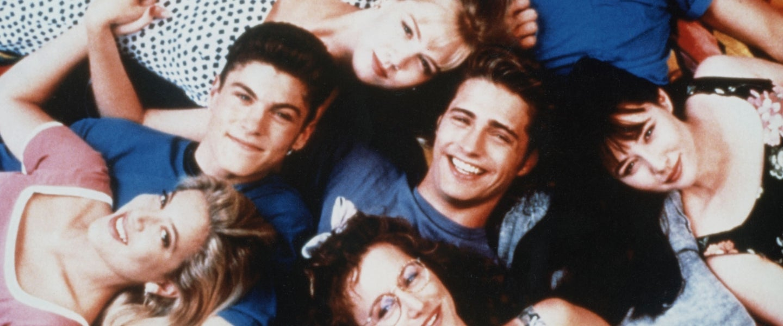 Cast of Beverly Hills, 90210: Tori Spelling, Brian Austin Green, Ian Ziering, Jennie Garth, Jason Priestley, Gabrielle Carteris, Luke Perry, Shannen Doherty