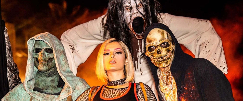 "bebe rexha at Universal Studios Hollywood's ""Halloween Horror Nights"""