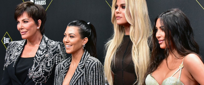 Kris Jenner, Kourtney Kardashian, Khloe Kardashian, and Kim Kardashian West at the People's Choice Awards 2019
