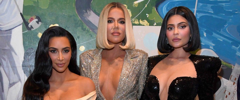 Kim Kardashian West, Khloe Kardashian, and Kylie Jenner attend Sean Combs 50th Birthday Bash